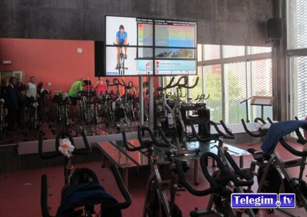 Sala Virtual Cycling Telegim Video Wall