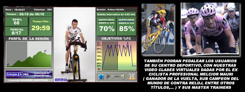 Virtual Ciclo Indoor Spinning para Gimnasios